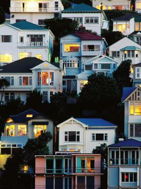 Tiered Bungalows and Villas at Oriental Bay, Wellington, New Zealand by Paul Kennedy