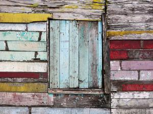 Wall and Window Detail of Rustic Wooden House by Paul Kennedy