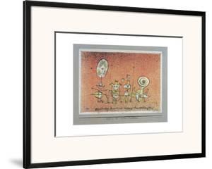 Bright Side Postcard by Paul Klee