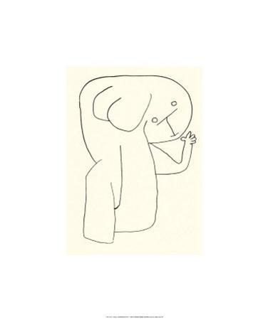 Engel im Kingergarten, c.1939 by Paul Klee