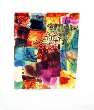 Erinnerung an einen Gart, 1914 by Paul Klee
