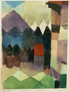 Fohn Wind in Marc's Garden by Paul Klee