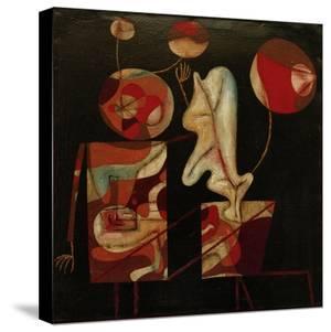 Marionetten (Bunt auf Schwarz) (Marionettes (Colour on Black)), 1930 by Paul Klee