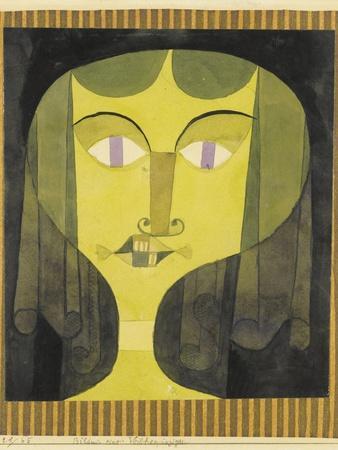 Portrait of a Violet-Eyed Woman