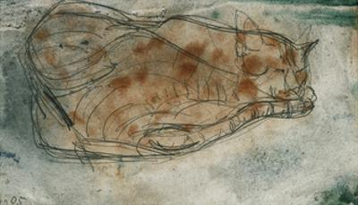 Sleeping Cat by Paul Klee