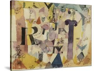 Stylish Ruins (detail) by Paul Klee