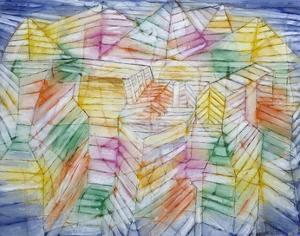Theater Mountain Construction, 1920-28 by Paul Klee