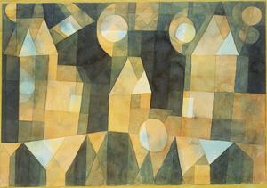 Three Houses and a Bridge; Drei Hauser an Der Brucke by Paul Klee