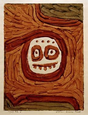 White-Brown Mask by Paul Klee