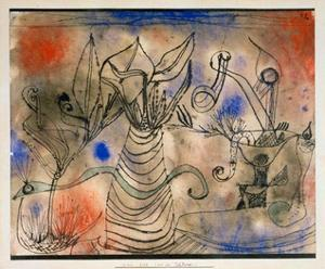 With the Snake, 1924 by Paul Klee