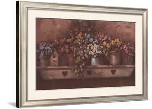 Flowers on Shelf by Paul Landry