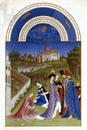 April, 1412-1416 by Paul Limbourg