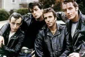 Paul Mace, Sylvester Stallone, Henry Winkler and Perry King The Lord's of Flatbush, 1974 BY MARTIN