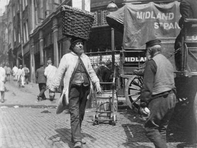 Fish porters at Billingsgate Market, London, 1893