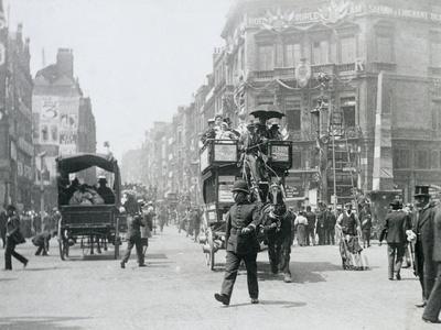 Ludgate Circus, London, prepared for Queen Victoria's Diamond Jubilee, 1897