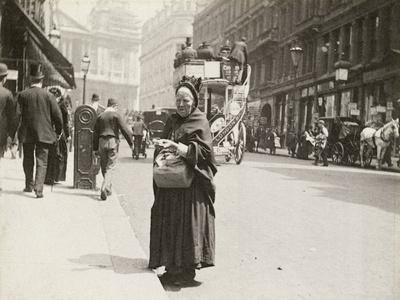 Match seller, Ludgate Hill, London, 1893