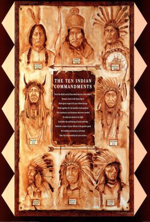 Paul Morgan The Ten Indian Commandments Art Print Poster