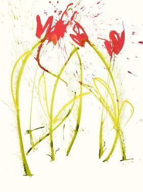 Gestural Florals 5 by Paul Ngo