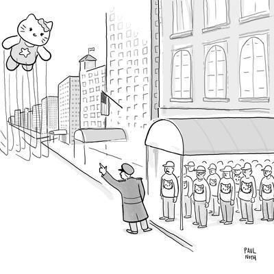 Hello Kitty Thanksgiving Float - Cartoon