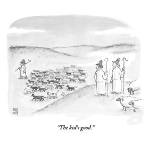 """""""The kid's good."""" - New Yorker Cartoon by Paul Noth"""