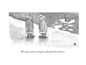 """We may not have enough ice floes for the boomers."" - New Yorker Cartoon by Paul Noth"