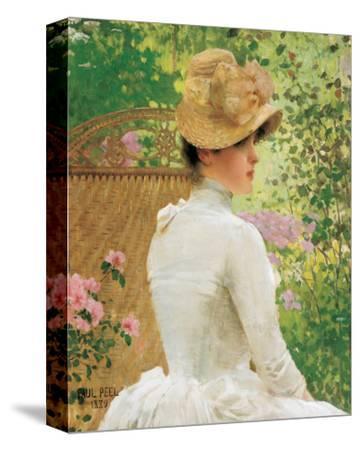 Lady in the Garden by Paul Peel
