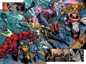 Fear Itself: The Fearless No.10: Panels with Wolverine, Red Hulk, Ms. Marvel, Storm and Others by Paul Pelletier