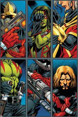 Guardians Of The Galaxy No.2 Group: Gamora, Rocket Raccoon and Adam Warlock by Paul Pelletier