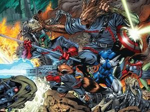 Guardians Of The Galaxy No.7 Group: Major Victory, Groot, Bug and Rocket Raccoon by Paul Pelletier
