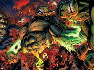 Incredible Hulks No.618: Abomination Fighting by Paul Pelletier