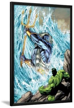 Incredible Hulks No.621: Poseidon Facing Hulk with his Enchanted Trident by Paul Pelletier