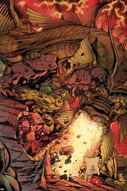 Incredible Hulks No.634 Cover: Hulk and Fin Fang Foom Fighting by Paul Pelletier