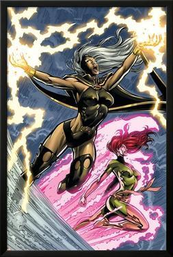 Uncanny X-Men: First Class No.6 Cover: Storm and Phoenix by Paul Pelletier