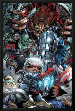 War of Kings No.3 Group: Rocket Raccoon, Drax, Major Victory and Groot by Paul Pelletier