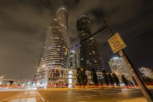 The Absolute Tower, Marilyn Monroe buildings in Mississauga, Ontario, Canada, North America by Paul Porter