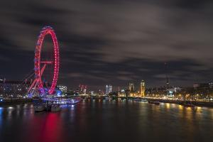The view of the London Eye, River Thames and Big Ben from the Golden Jubilee Bridge, London, Englan by Paul Porter