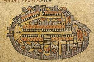 Map Of Jerusalem In Mosaic, Cardo, Jerusalem, Israel by paul prescott