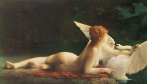 Leda and the Swan by Paul Prosper Tillier