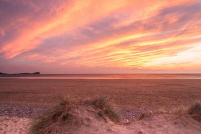 Sunset at Llangennith Beach,Rhossili Bay,Gower,Wales by Paul Quayle