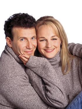 """PAUL REISER; HELEN HUNT. """"MAD ABOUT YOU"""" [1992]."""