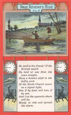 Paul Revere's Ride, Poem