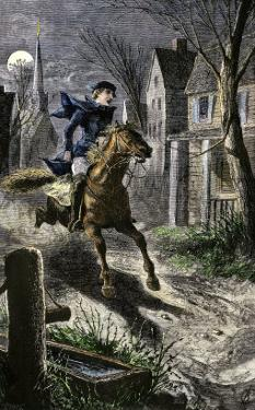 Paul Revere's Ride to Awaken the Minutemen of Lexington, Massachusetts, April 19, 1775