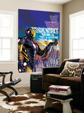 Iron Man #18 Cover: Iron Man by Paul Rivoche