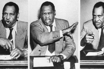 Paul Robeson, Speaks to Reporters after the Peekskill, N