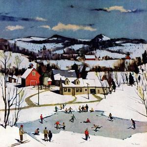 """Skating on Farm Pond,""January 1, 1950 by Paul Sample"