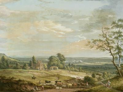 A Distant View of Maidstone, from Lower Bell Inn, Boxley Hill