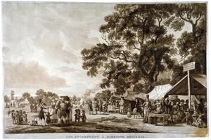 Army Camp in Hyde Park, London, 1780 by Paul Sandby