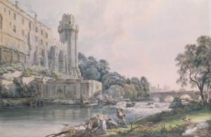 Caesar's Tower and Part of Warwick Castle by Paul Sandby