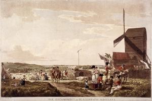 Encampment on Blackheath, Greenwich, London, 1780 by Paul Sandby