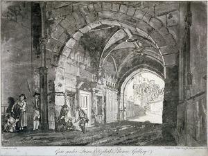 Gate under Queen Elizabeth's Picture Gallery, Windsor Castle, Berkshire, 1812 by Paul Sandby